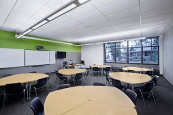 K-12 School Furniture setup designed by LPA Inc.