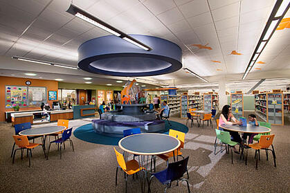Chino Hills patrons enjoying their library