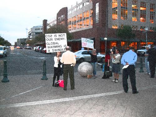 Protestors at GreenBuild 2009