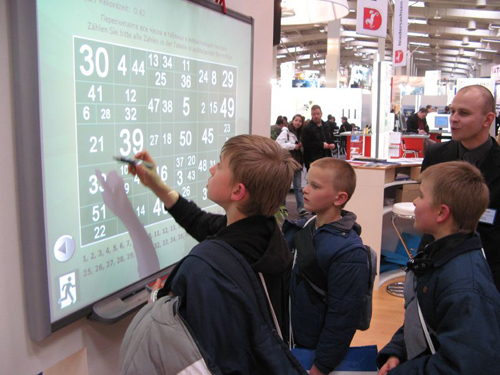 Interactive whiteboards for K-12 schools