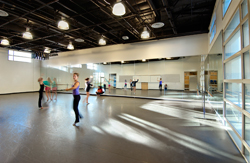 Dance room at Laguna Beach High School Modernization