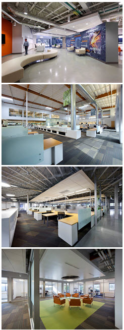 Green Interior Office Renovation Southern Californiam, Southland Industries