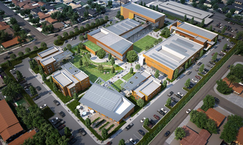 Orangewood Children's Foundation Charter High School, designed by LPA Inc.