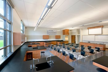 Modernized classroom at Valley Christian High School