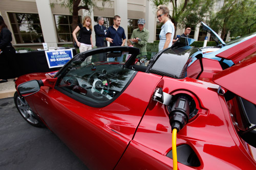 Sustainable Showcase Teslad Roadster Plug In America
