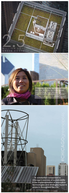 Chicago's sustainable urban design inspires documentary, featured in Green Unplugged.