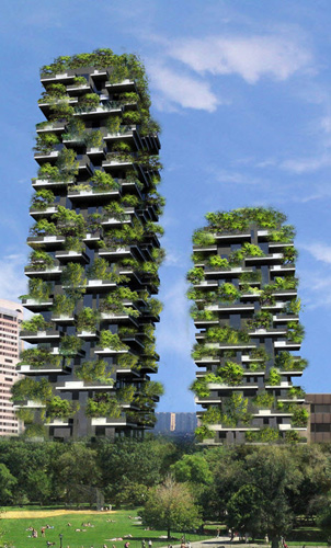Milan's Bosco Verticale exemplifies an integrated design approach that blends interior and exterior environments.