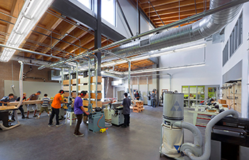 CTE K12 school design at South Tahoe High School by LPA's education group