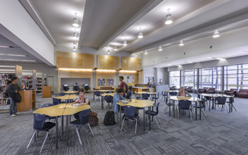 The integrated design process at McBride High helped LPA's design team deliver high quality learning environments.